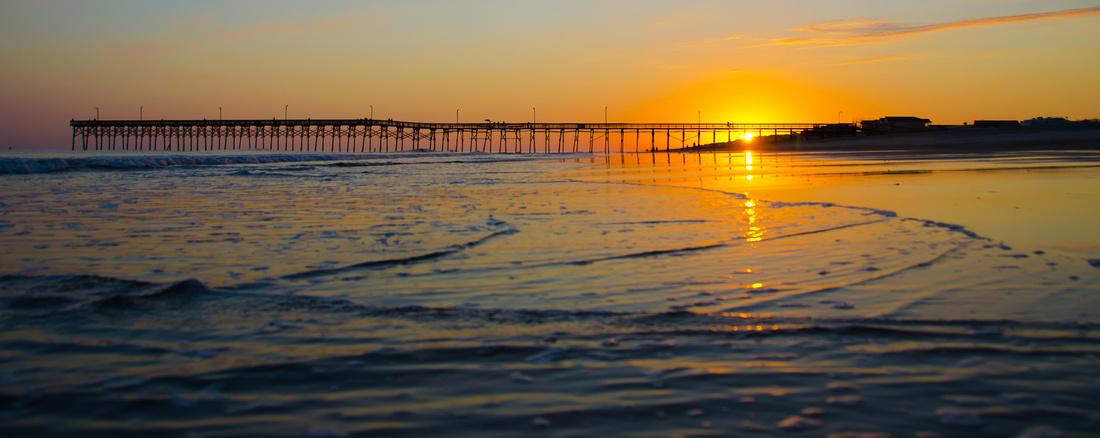 Holden Beach Pier Sunset